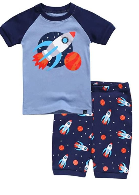 Vaenait Baby Rocket Fire Pajama Set