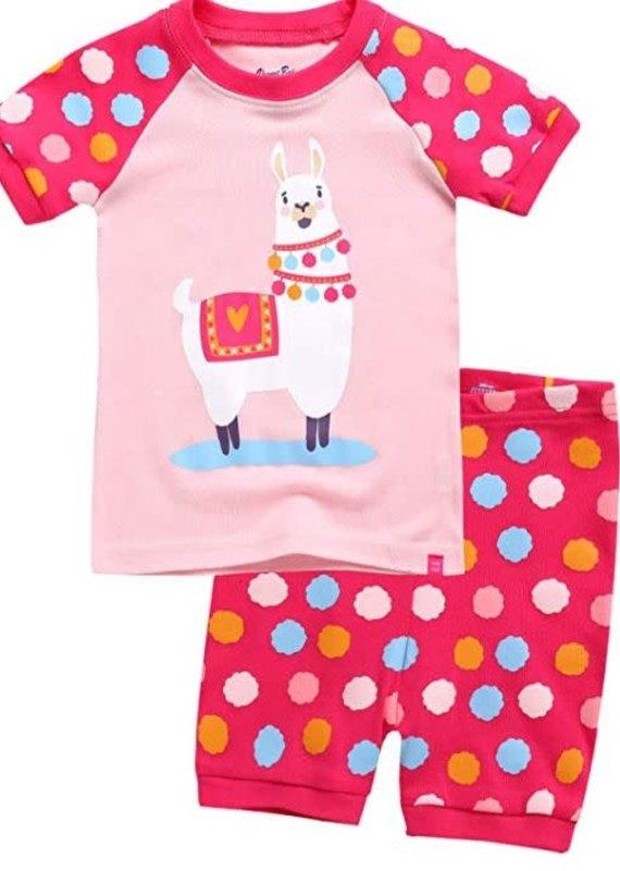 Vaenait Baby Dot Llama Pajama Set
