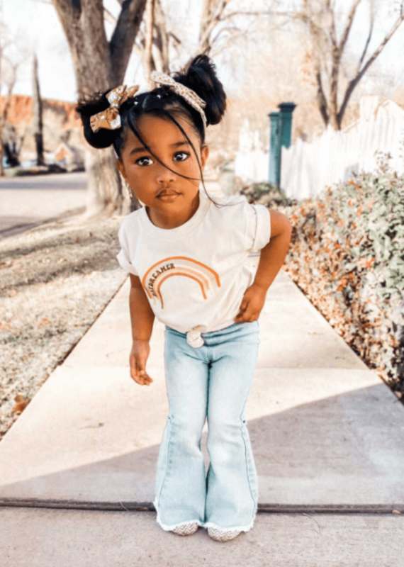 Bailey's Blossoms Sophie Denim Bell Bottoms-Baby