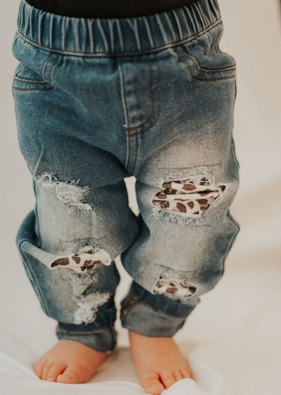 Bailey's Blossoms Drew Distressed Denim-Baby