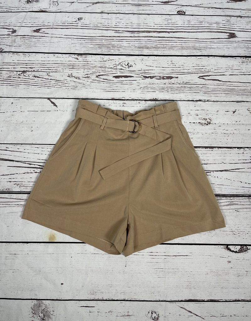 Skies Are Blue Belted High Waist Shorts