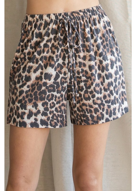 JODIFL Always Comfy Leopard Shorts
