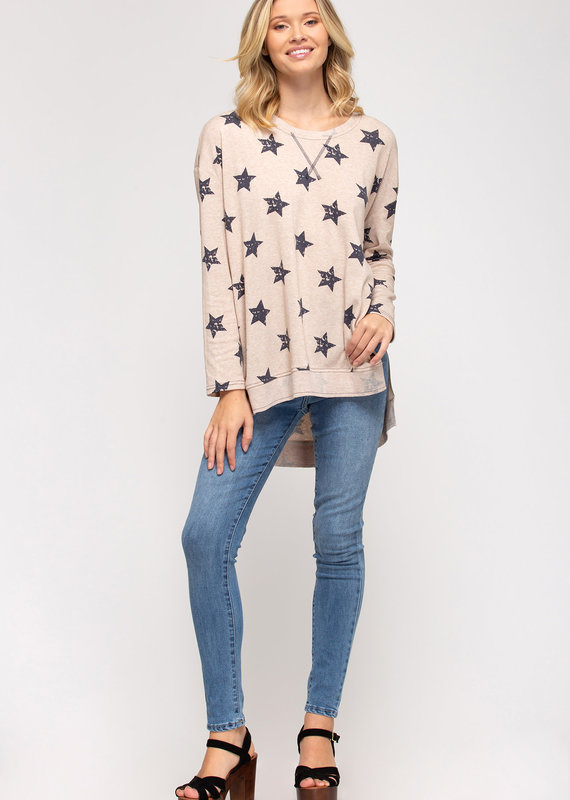 She+Sky Star Power Knit Top