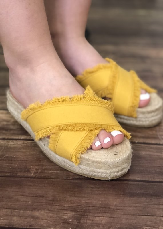Charlie Paige Espadrille Slide Sandals