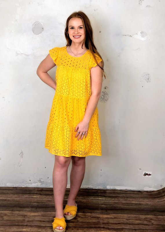 Skies Are Blue Sunny Days Eyelet Dress