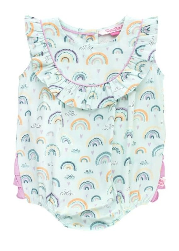 Rufflebutts Chasing Rainbows Bubble Romper