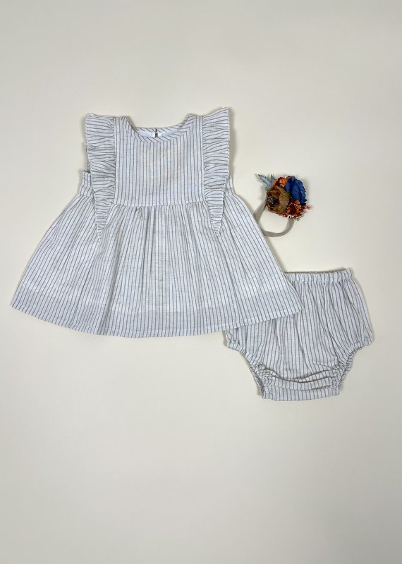 Yo Baby Run Away Striped Dress 2-Piece