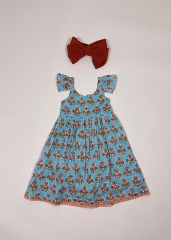 Yo Baby Flower Girl Floral Dress