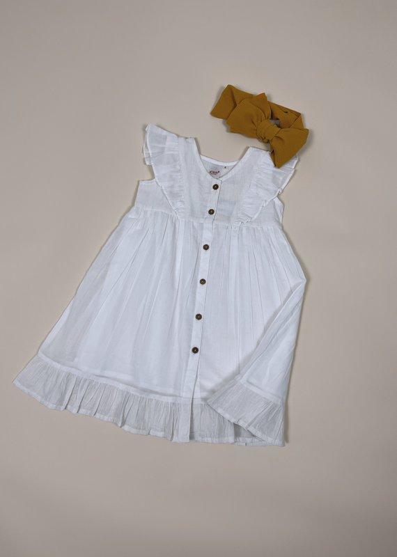 Yo Baby Button Up Dress-Toddler