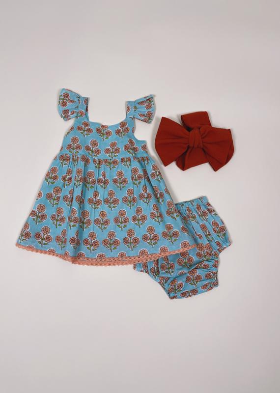 Yo Baby Flower Girl 2-Piece Dress