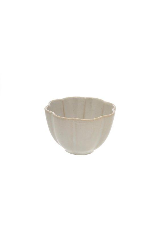 Amelia Scalloped Condiment Bowl in White