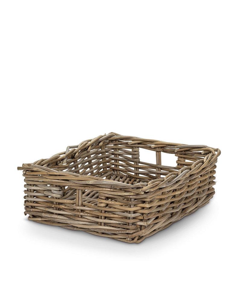 """Natural Rattan Basket 14x18"""" Rectangular"""