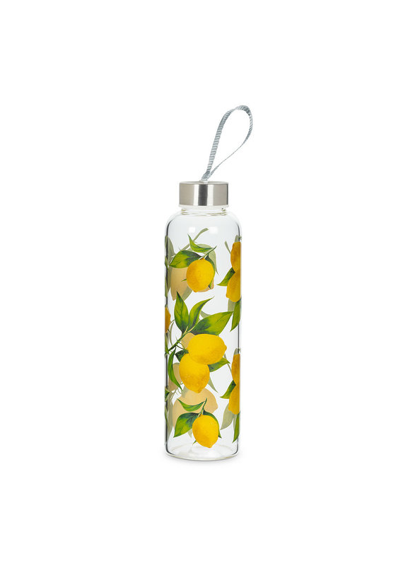 Lemon Tree Glass Bottle with Strap & Cap - EB27