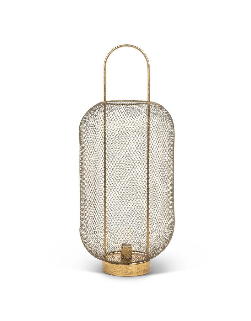 Tall Mesh LED Barrel Lantern