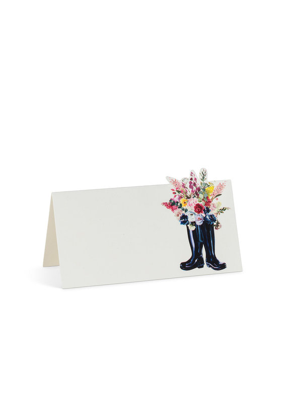 Rubber Boots Folded Placecards. 12 Pieces - B22