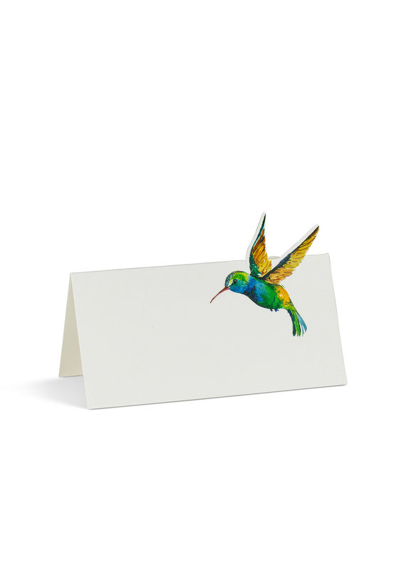 Hummingbird Folded Placecards. 12 Pieces - B22