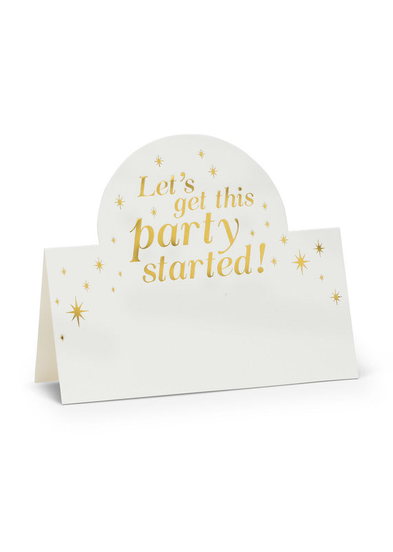 Lets Get this Party Started Folded Placecards. 12 Pieces - EB16