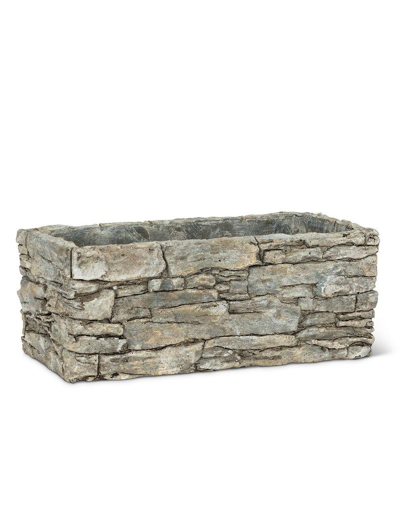 Medium Rectangle Stack Stone Planter - EB30