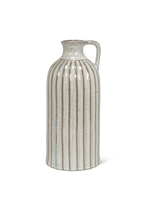 Tall Ribbed Jug Vase - EB132423