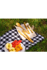Bamboo Cutlery Set in Roll. 7 Pieces - EB4