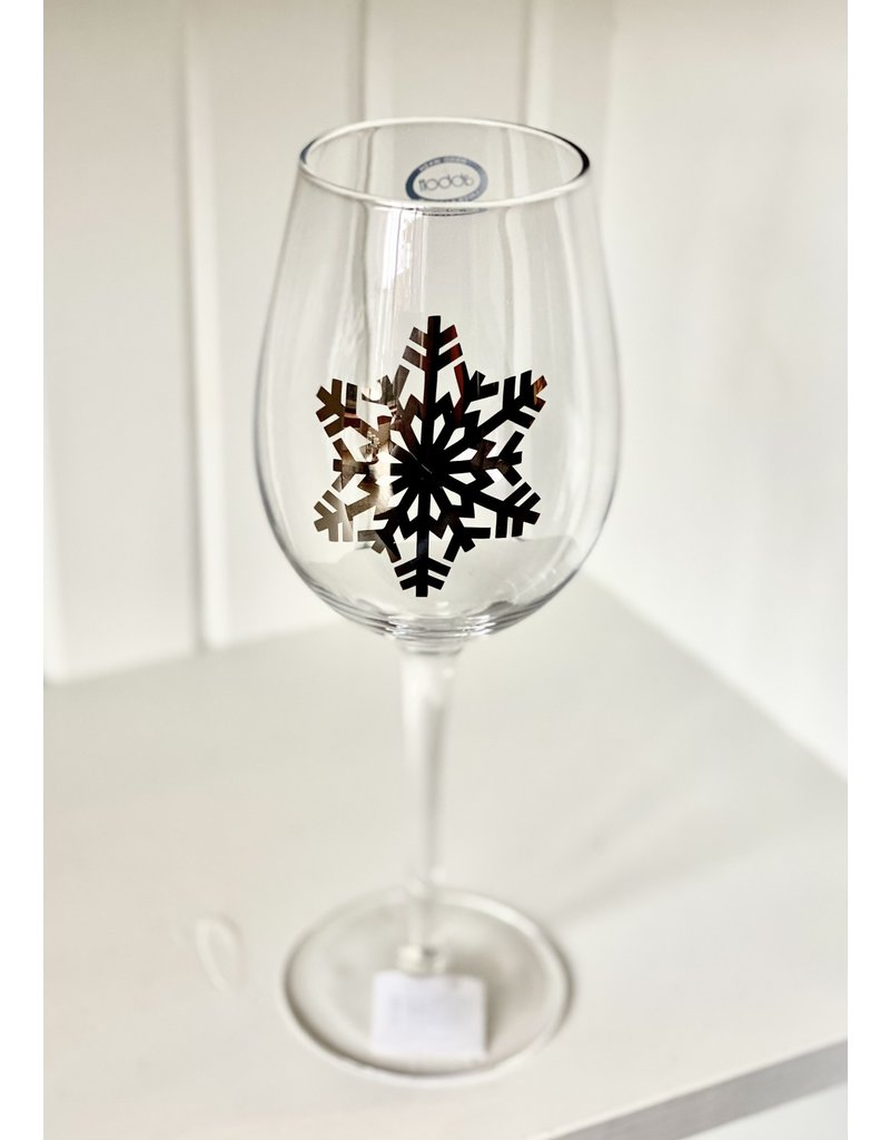 Silver Snowflake Wine Glass - CB1