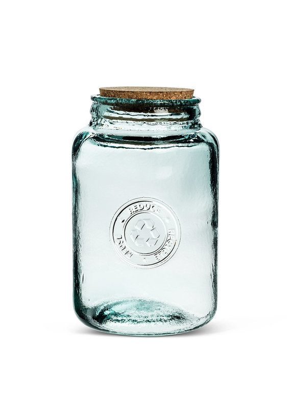 Large Crest Storage Jar with Cork