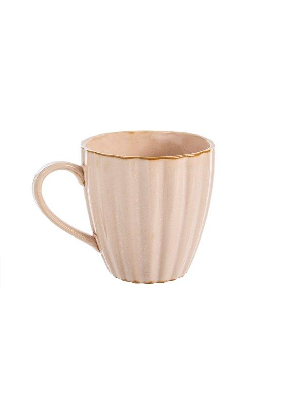 Amelia Scalloped Mug in Blush - EB32