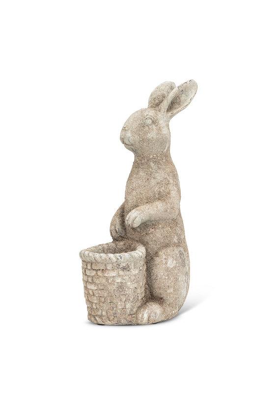 Tall Rabbit with Basket Planter - ES6