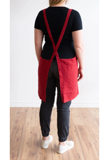 Catalina Linen Apron Red