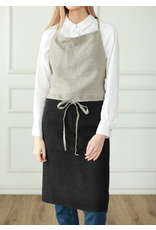 Le Chef Line Apron, Natural with Black