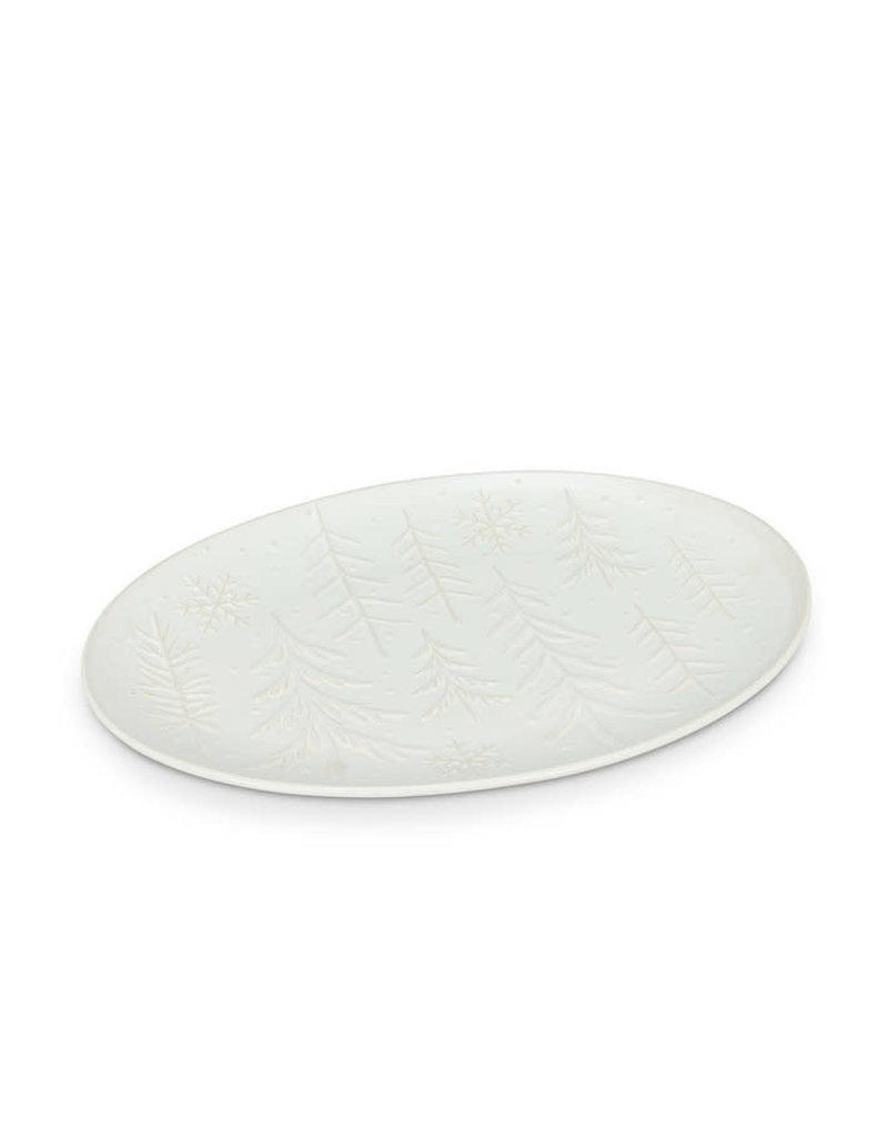 Tree & Snowflake Oval Platter - CH5
