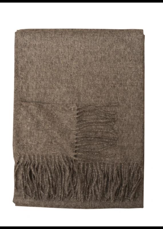 Linen Way Baby Alpaca Melange Throw Shadow Grey - EB27