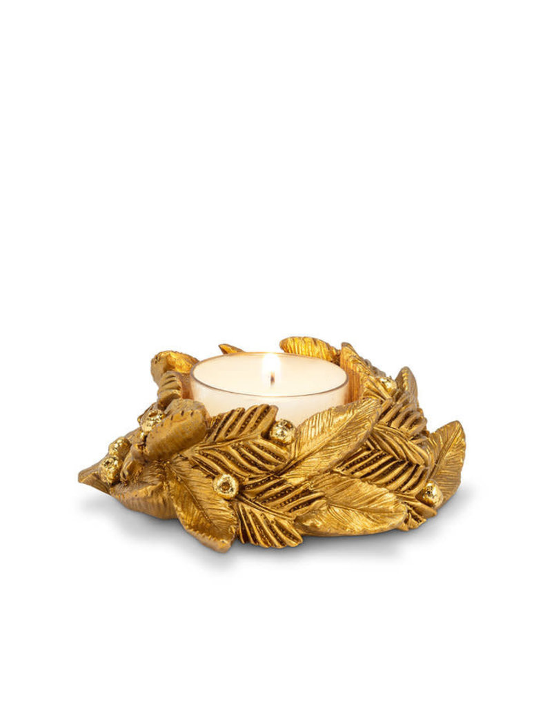 Leaf & Berry Tealight Holder with Tealight - CH5