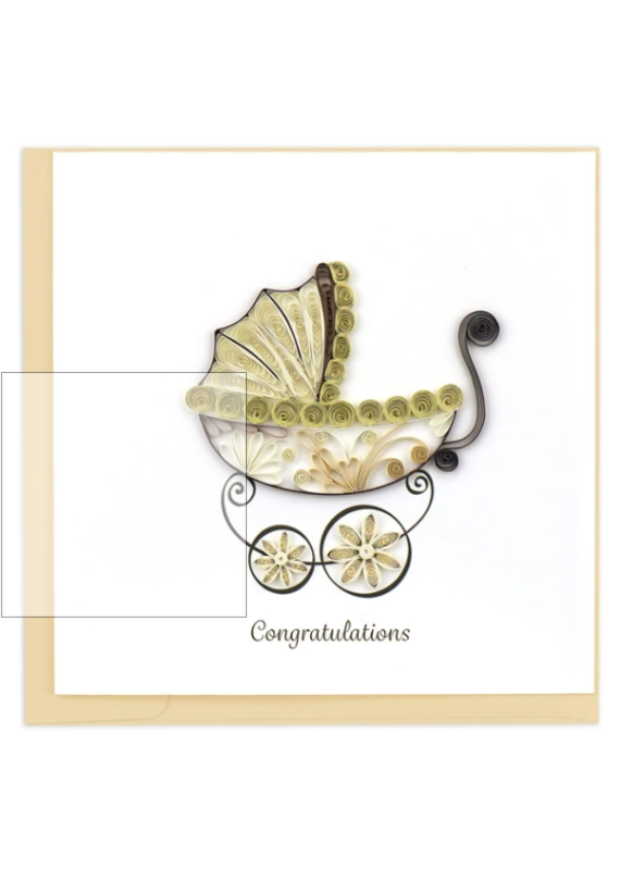 Baby Carriage Quilling Greeting Card