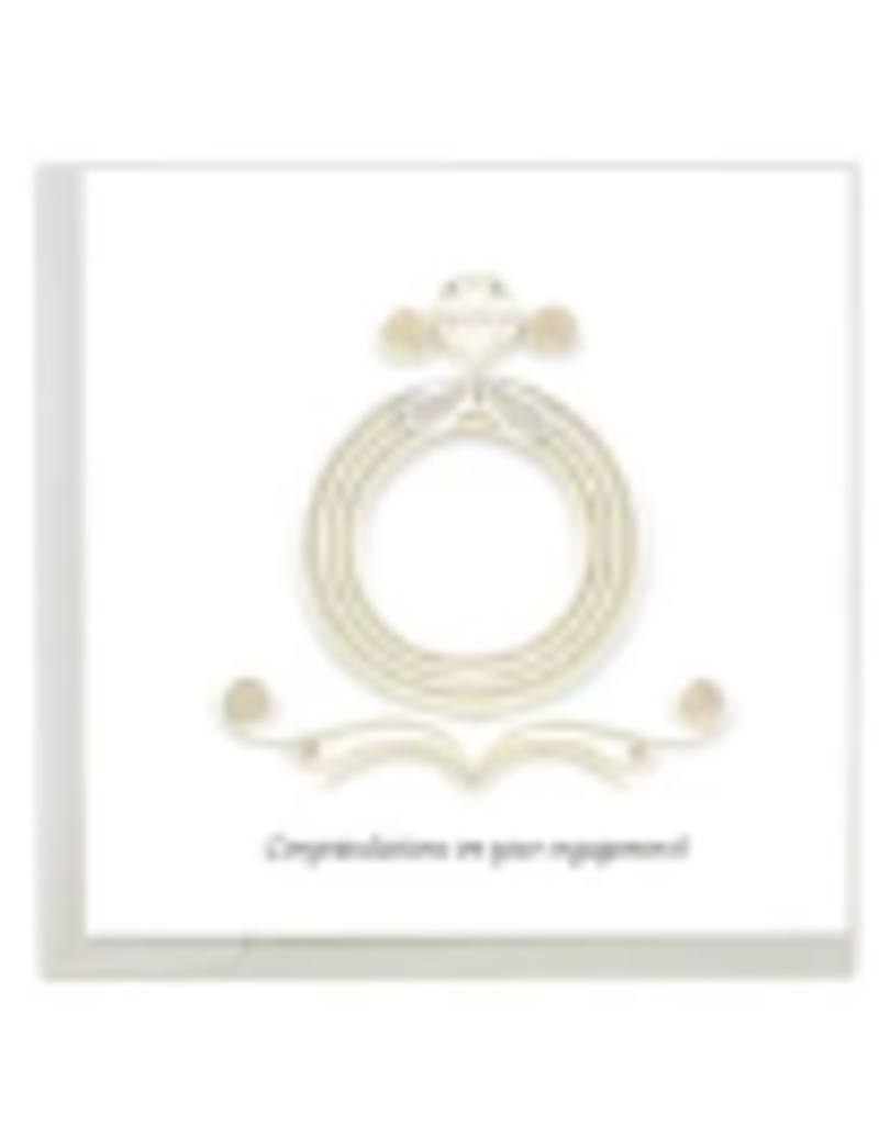 Engagement Quilling Greeting Card