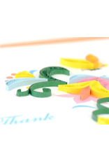Thank You Flower Wreath Quilling Greeting Card