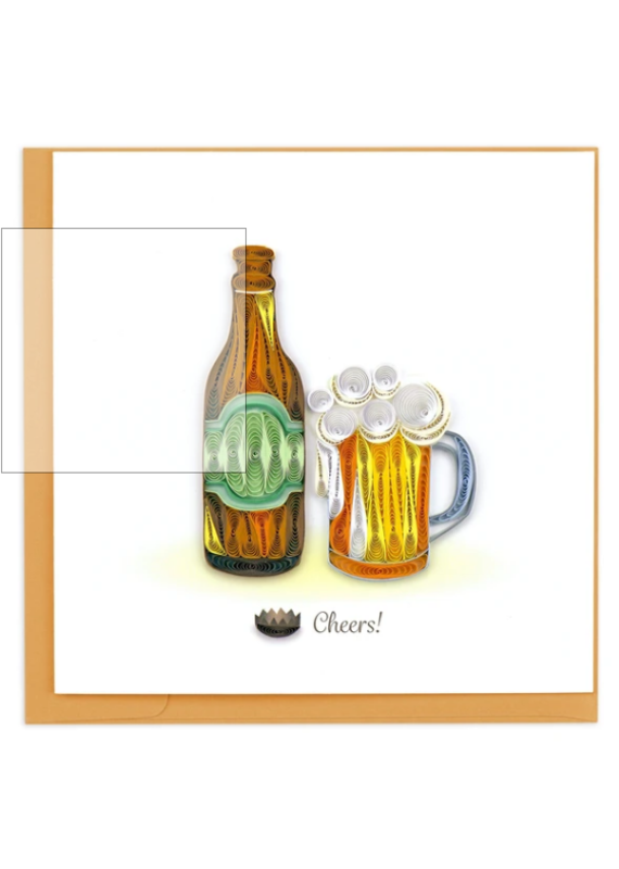 Cheers Beer Quilling Greeting Card