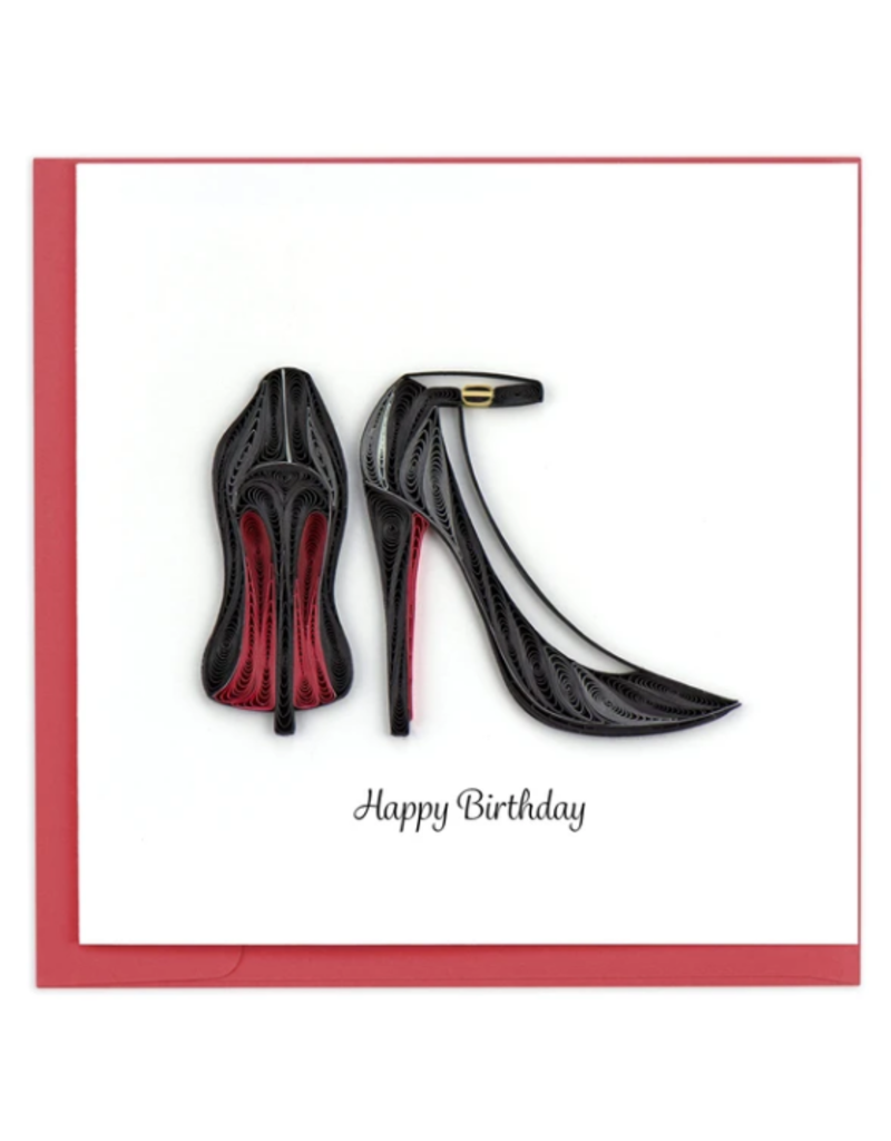 Red Bottom Heels Happy Birthday Quilling Greeting Card