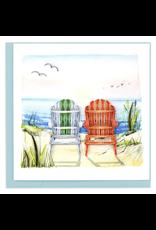 Beach & Adirondack Quilling Greeting Card