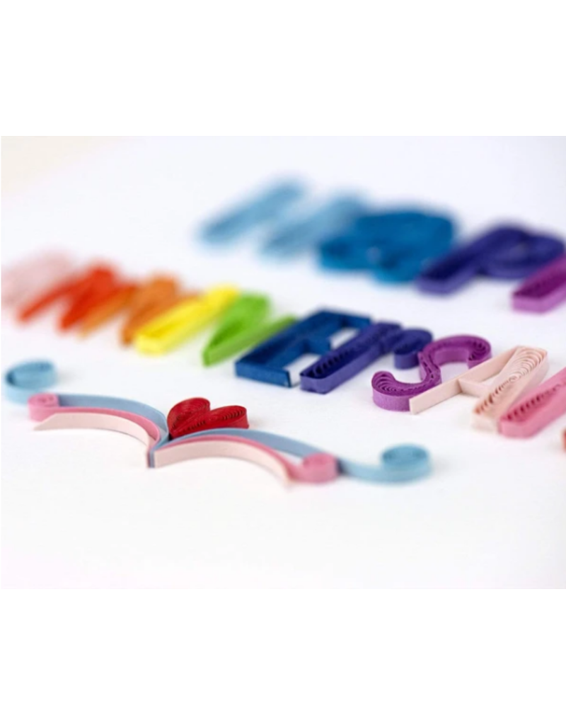 Happy Anniversary Quilling Greeting Card