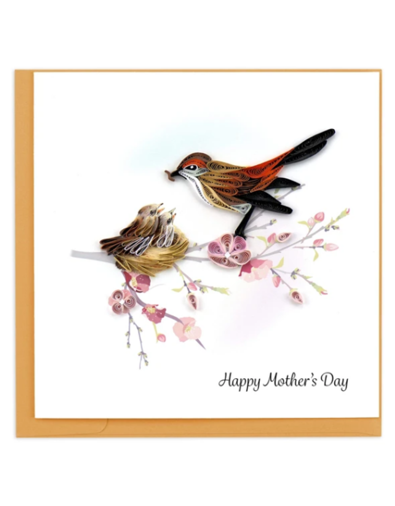 Mother Bird & Babies Mother's Day Quilling Greeting Card