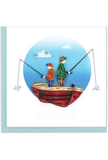 Father & Son Fishing Quilling Greeting Card