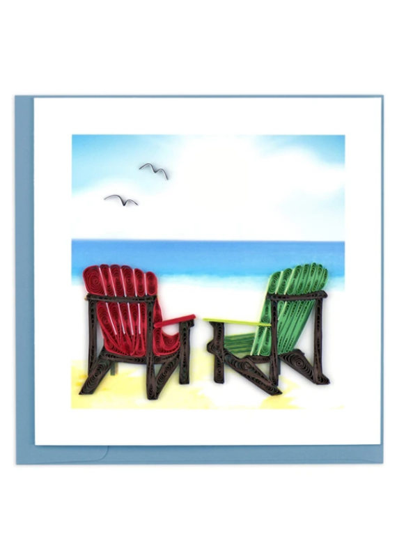 Adirondack Chairs Quilling Greeting Card