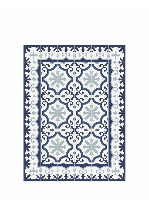 """Locus Vie Vinyl Floor Coverings Avenir Blue Floor Mat Extra Small 2'x2'8"""""""