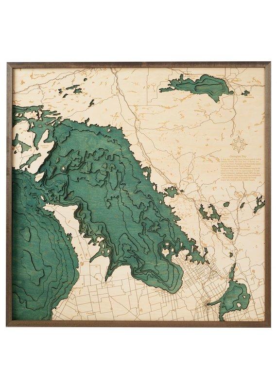 Georgian Bay 3d Wall Map 76cmx76cm
