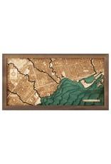Toronto 3d Wall Map 81cmx61cm