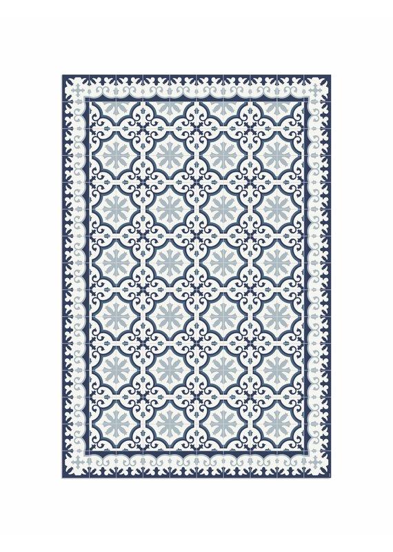 """Locus Vie Vinyl Floor Coverings Avenir Blue Floor Mat Extra Large Rug 6'7""""x9'10"""""""