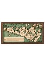 Manitoulin Island 3d Wall Map 40.5cmx20cm