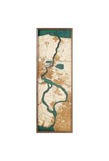 Niagara River 3d Wall Map 122cmx30.5cm