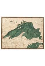 Lake Superior 3d Wall Map 81cmx61cm